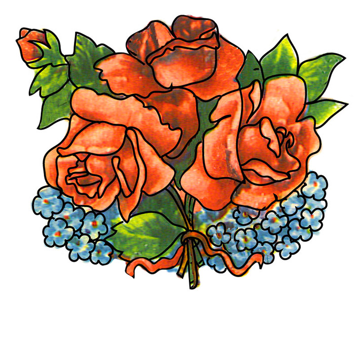 Clip Art Of Red Roses Bouquet Clipart - Clipart Suggest