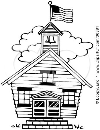 School Building Clipart Black And White   Clipart Panda   Free Clipart
