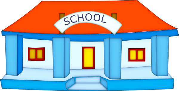 School Building Clipart Black And White School Building Clipart Png