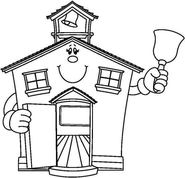 School Building Clipart Free Black And White   Clipart Panda   Free
