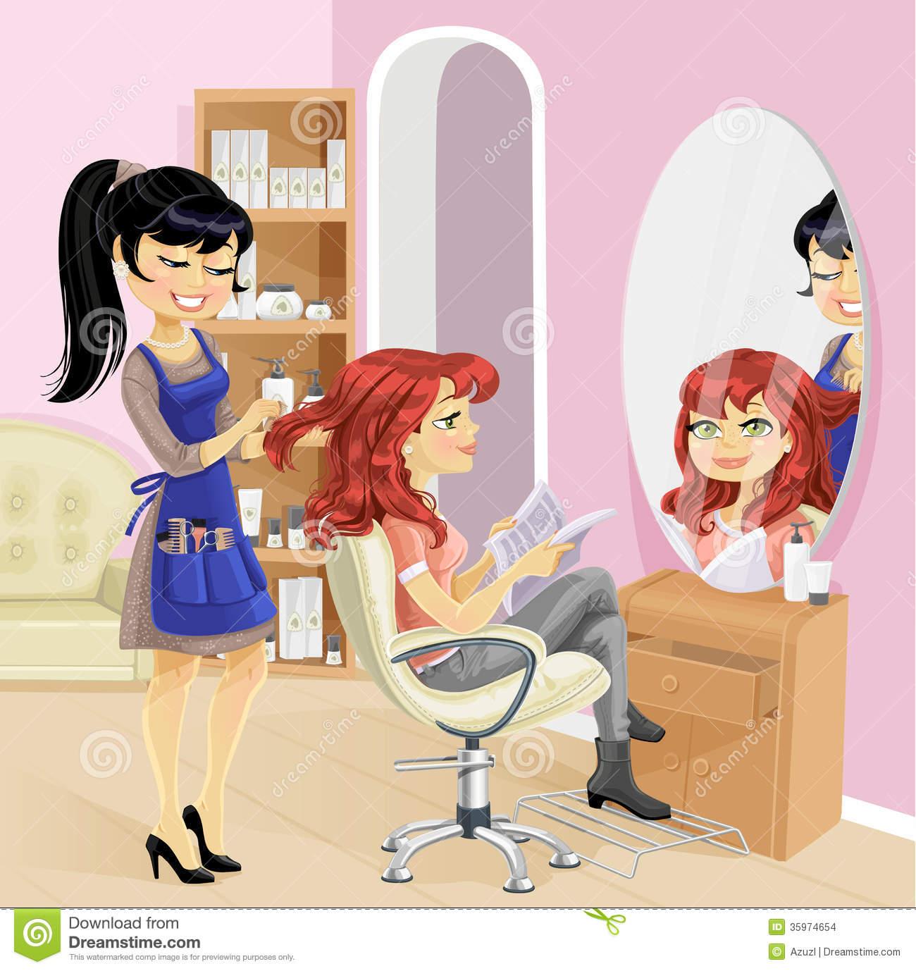 salon beauty hairdresser service clipart cute saloon hair cliparts manicure
