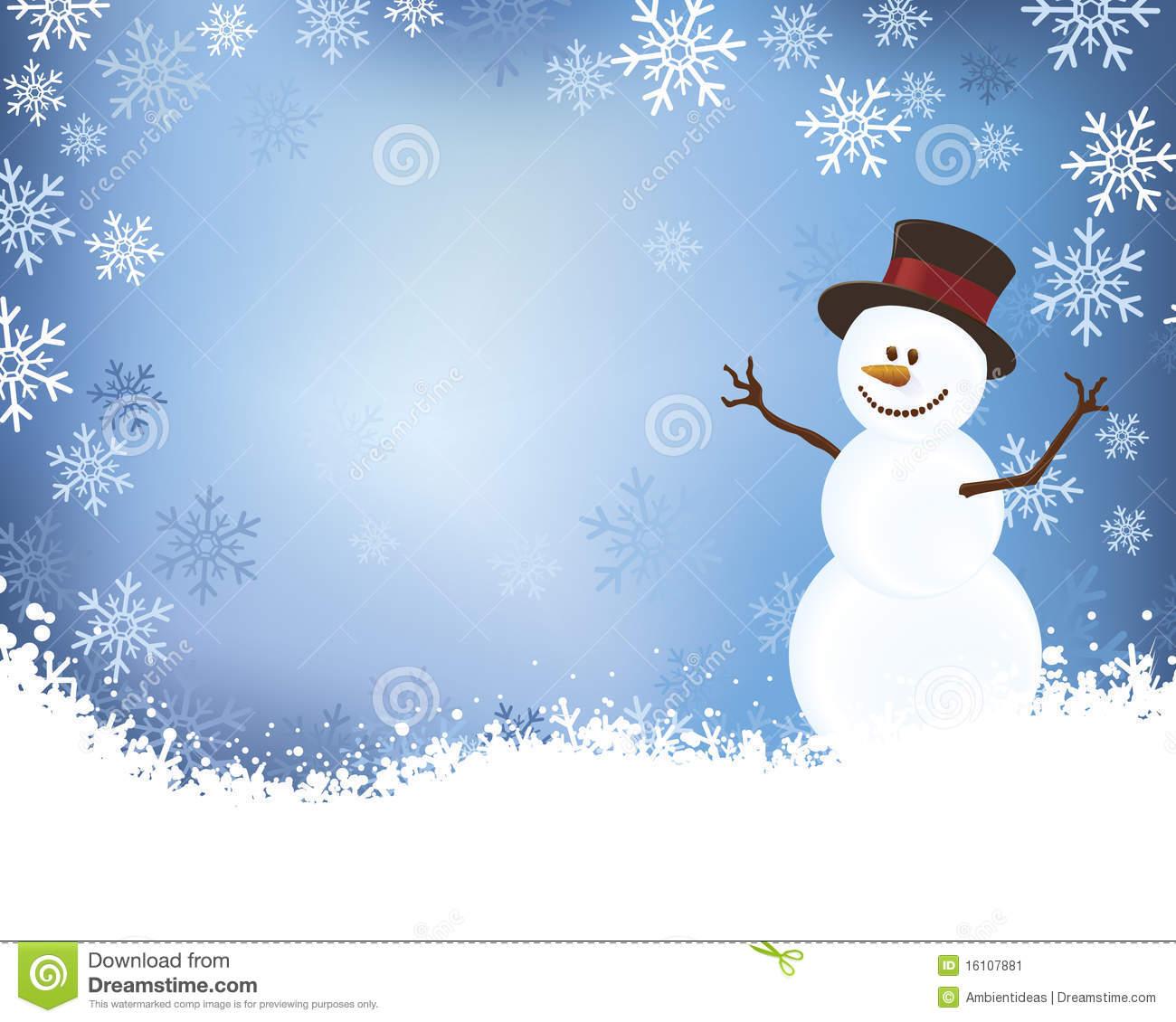 Winter Scene With Snowman winter scenes clipart - clipart kid