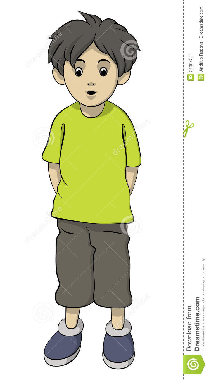 Standing Boy Stock Image   Image  21904381