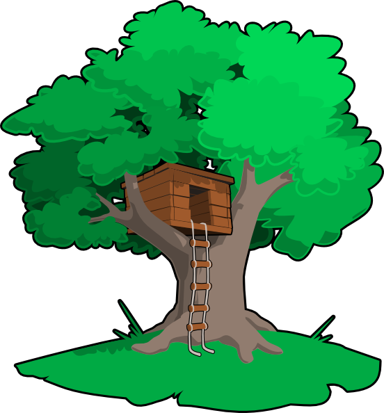 Tree House Clip Art At Clker Com   Vector Clip Art Online Royalty