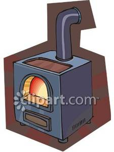 Wood Stove   Royalty Free Clipart Picture