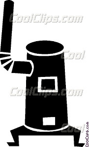 Wood Stove Vector Clip Art