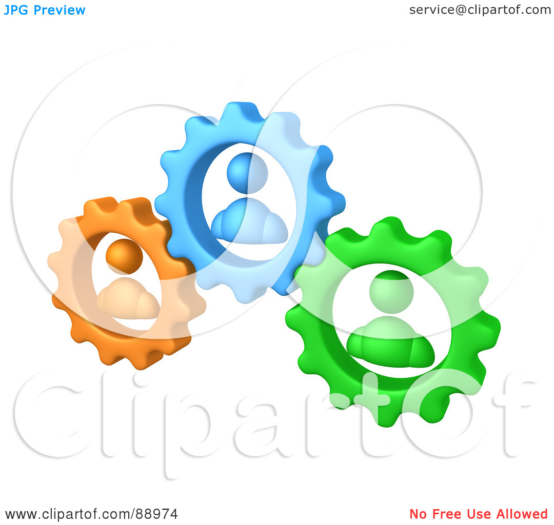 Working Together Clipart Royalty Free Rf Clipart Illustration Of Green
