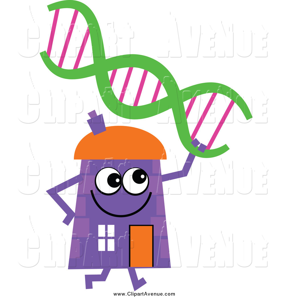 Avenue Clipart Of A Purple House Character With Dna By Prawny    818