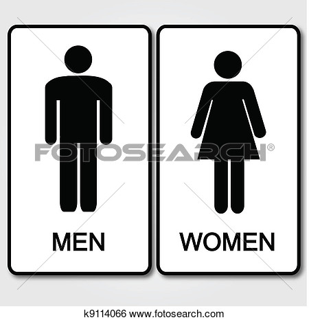 Clip Art   Restroom Sign Illustration  Fotosearch   Search Clipart
