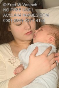 Clip Art Stock Photo Of A Mother Holding Her Infant Child And