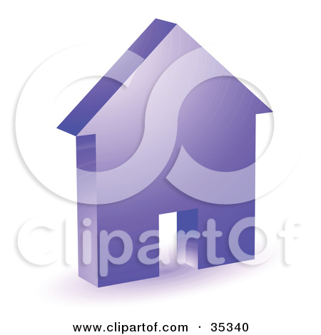 Clipart Illustration Of A Purple House Icon With A Doorway By Kj