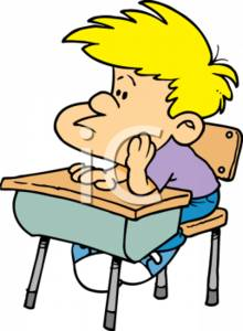 Clipart Picture Of A Male Student At A School Desk