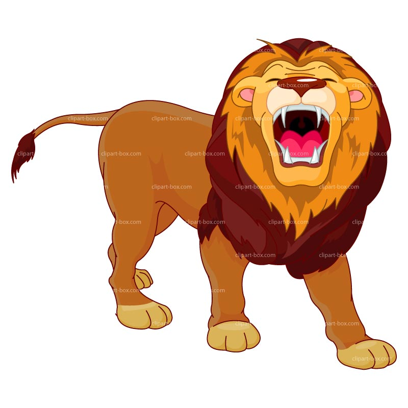 Clipart Roaring Lion   Royalty Free Vector Design