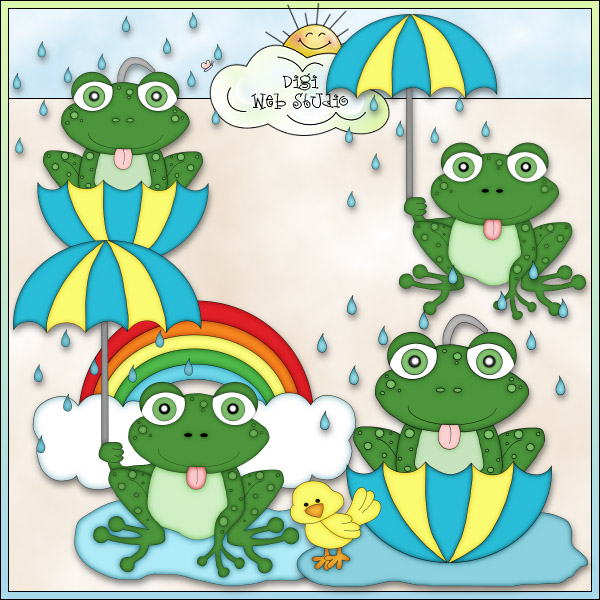 Cold Rainy Day Clip Art Rainy Day Frogs 2 Ne Angie