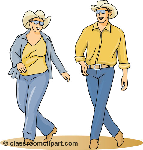 Dance   Country Western Line Dance   Classroom Clipart