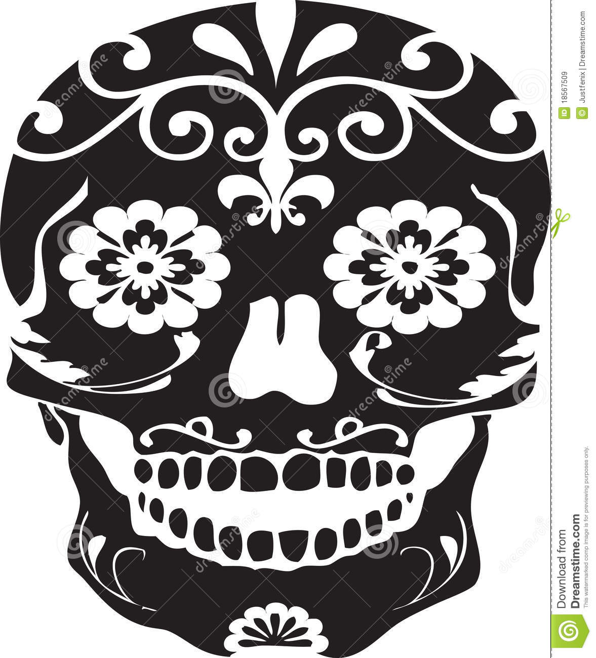 Gallery For gt Day Of The Dead Skull Black And White