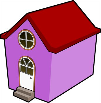 Free Purple House Clipart   Free Clipart Graphics Images And Photos