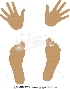Hands And Feet To Self Clipart     Illustration   Hand