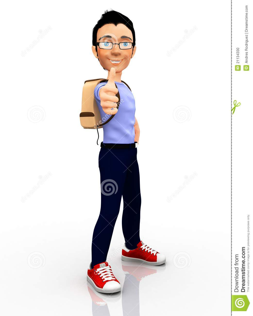Male College Student Clipart 3d Male Student 21134330 Jpg