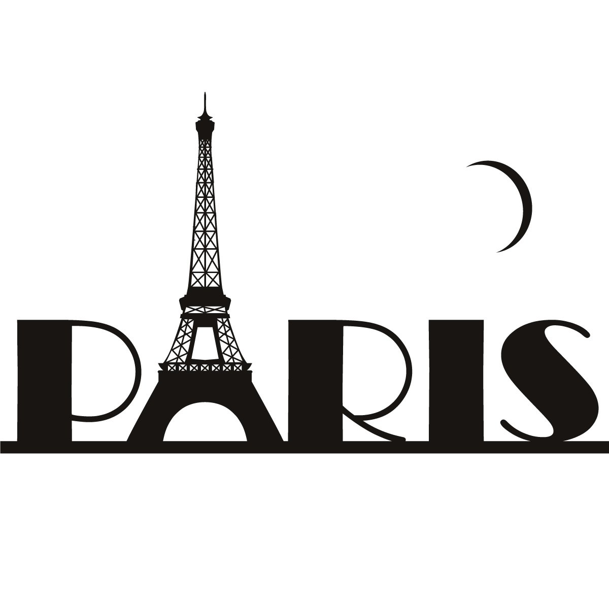 Paris Eiffel Tower France Wall Art Sticker Wall Decal Transfers   Ebay