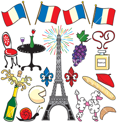 Paris France Clipart Elements Vector By Boohoo   Image  167574