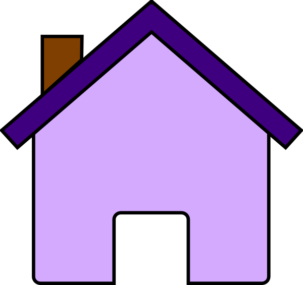 Purple House Clip Art At Clker Com   Vector Clip Art Online Royalty