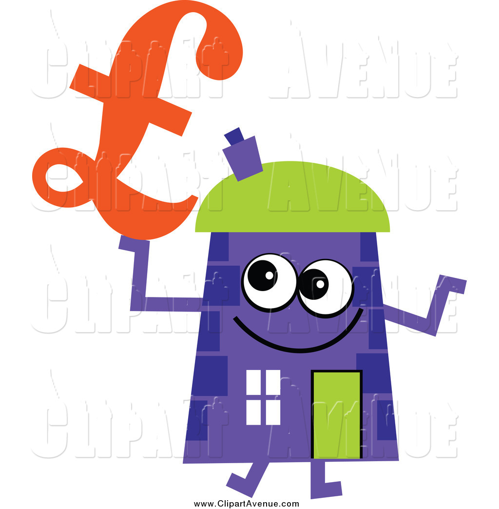 Purple House Clip Art Avenue Clipart Of A Purple