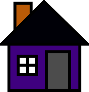 Purple House Clip Art