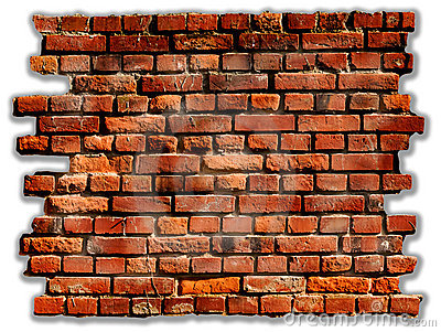 Red Brick Wall Clipart Old Rustic Red Brick Wall