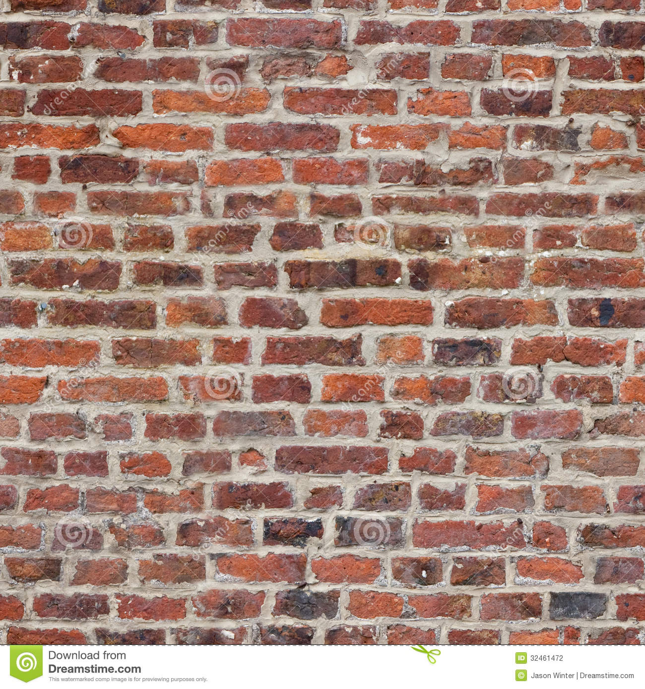 Repeating Tileable Rustic Brick Wall Wallpaper Background