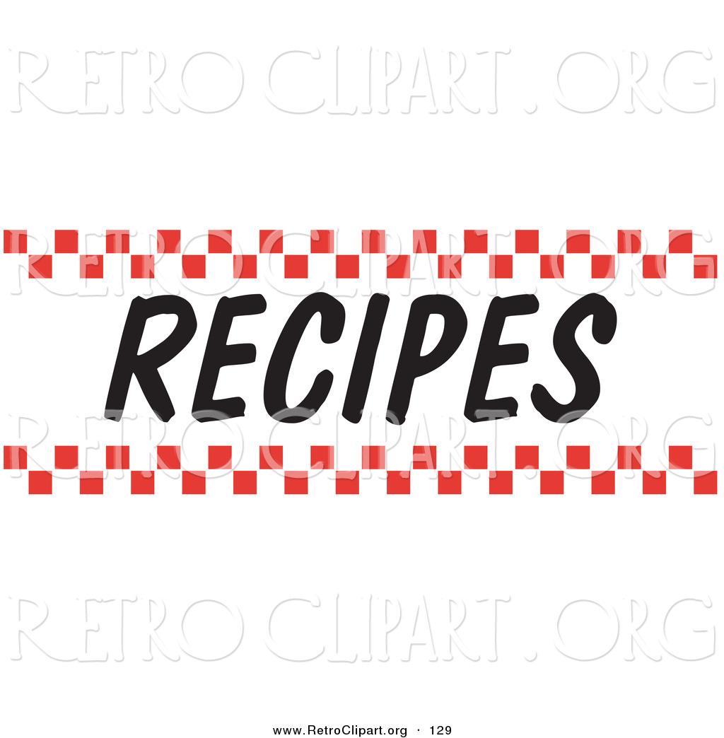 Retro Recipes Clipart