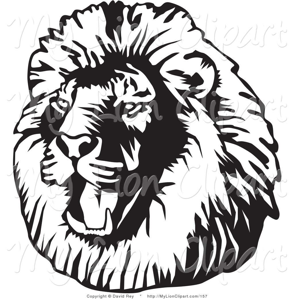 Roaring Lion Black And White   Clipart Panda   Free Clipart Images