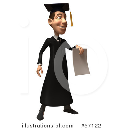 Royalty Free  Rf  Male Grad Student Character Clipart Illustration By