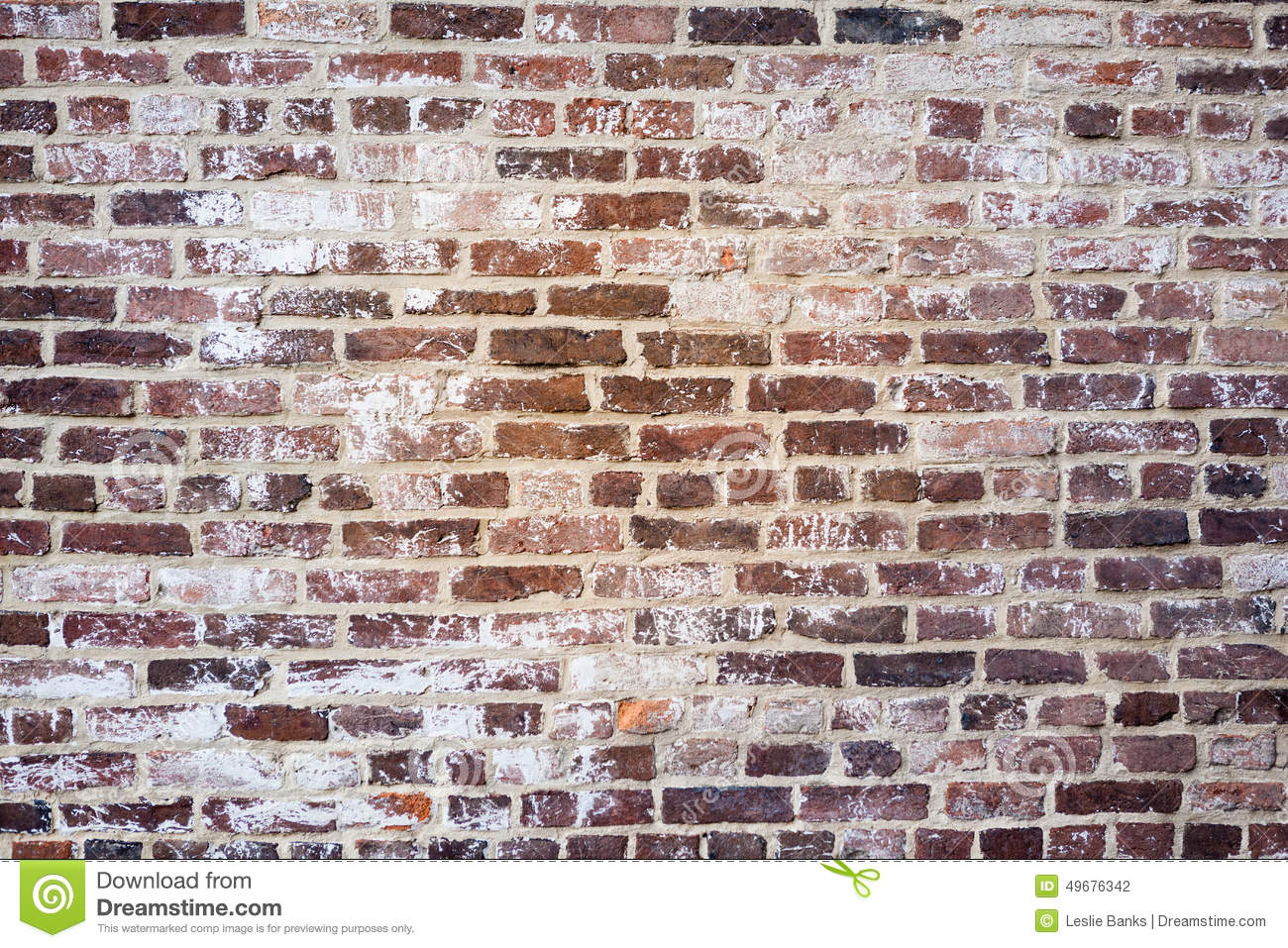 Rustic Brick Wall Background Stock Photo   Image  49676342