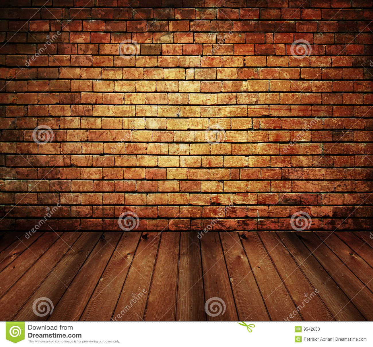 Rustic House Interior Vintage Brick Wood Texture Stock Photo   Image