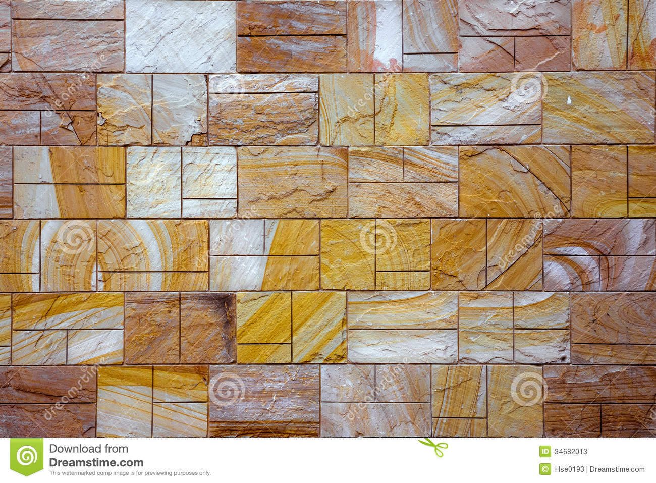 Rustic Tile Brick Wall Stock Photos   Image  34682013