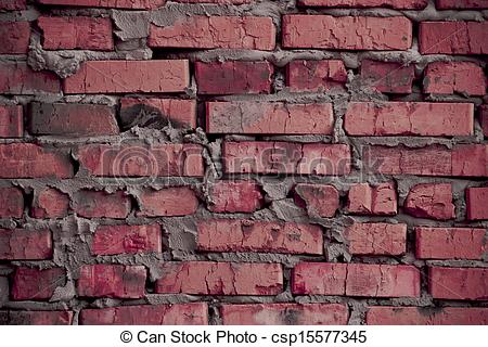 Stained Rough Brick  Art Edition  Rustic Pink  Rosy  Stylized Brick