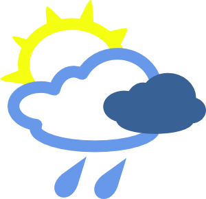 Sun And Rain Weather Symbols Clip Art At Clker Com   Vector Clip Art
