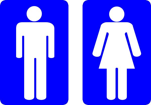 Toilet Signs Clip Art At Clker Com Vector Clip Art Online Royalty. Men Women Bathroom Sign Clipart   Clipart Kid