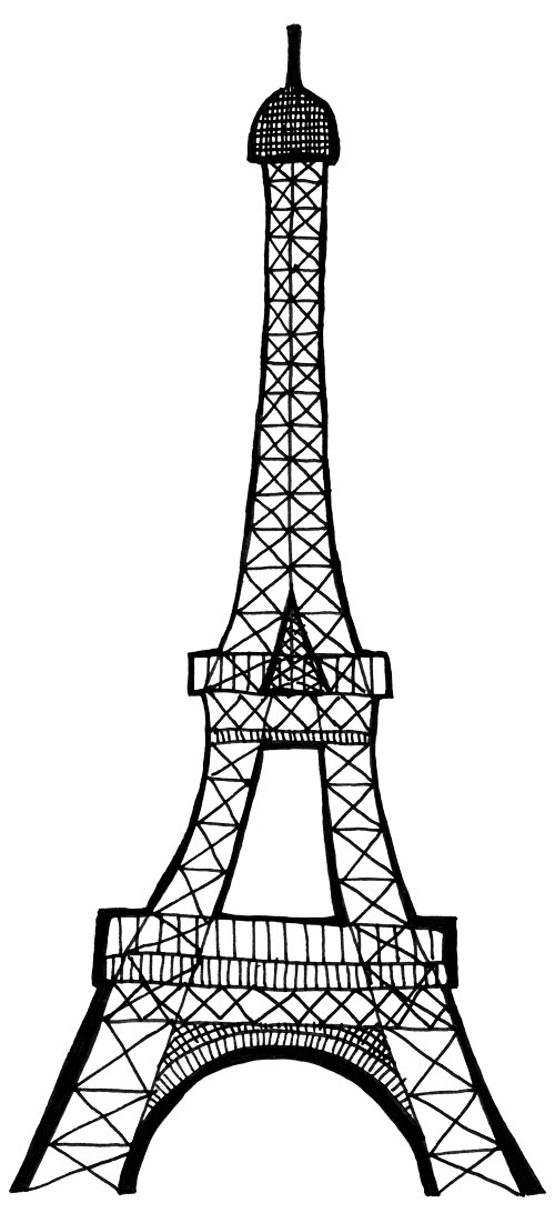 17 Black And White Eiffel Tower Drawing   Free Cliparts That You Can