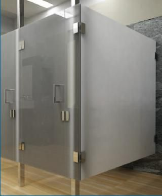 Bathroom Stalls On Glass Restroom Partitions Commercial Bathrooms