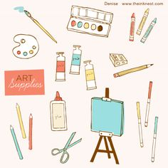 Clip Art   Art Supplies By Illustrator Nisee Made  Download Is A Free