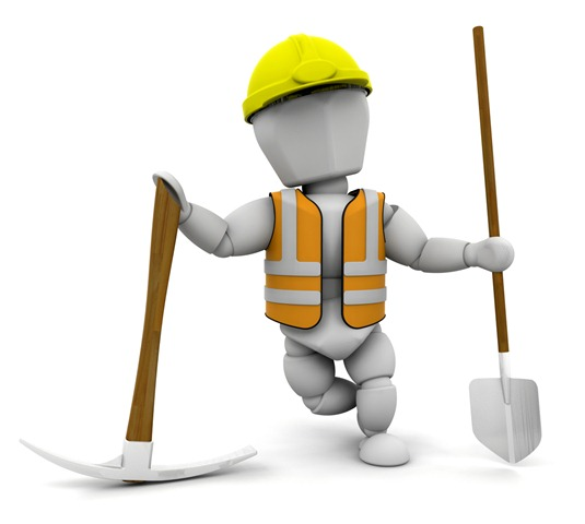 Clipart Illustration Of A White Character Construction Worker Wearing