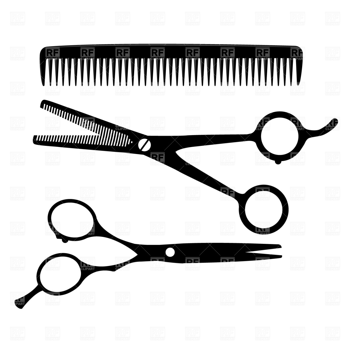 Shears And Comb Clipart - Clipart Kid