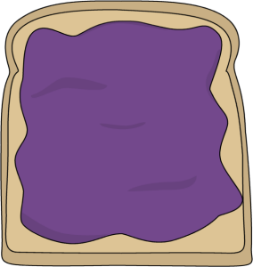 Grape Jelly Clipart Jelly Toast   Clip Art Image