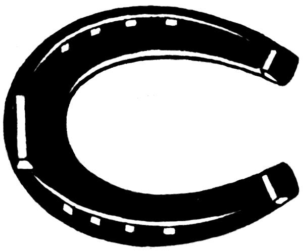 Free Horseshoe Clip Art Black and White