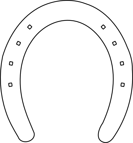 Horseshoe Clipart Black And White   Clipart Panda   Free Clipart
