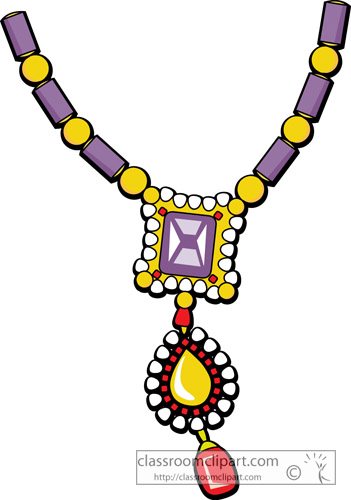 Jewelry   Necklace Jewelry 0123   Classroom Clipart