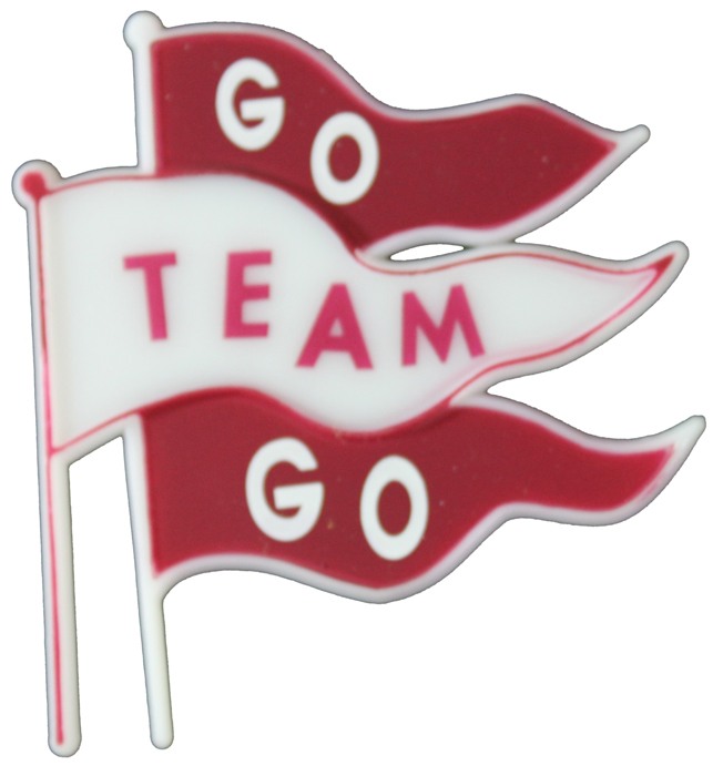 Ma5725 2 1 2 Go Team Go Triple Flag Charm