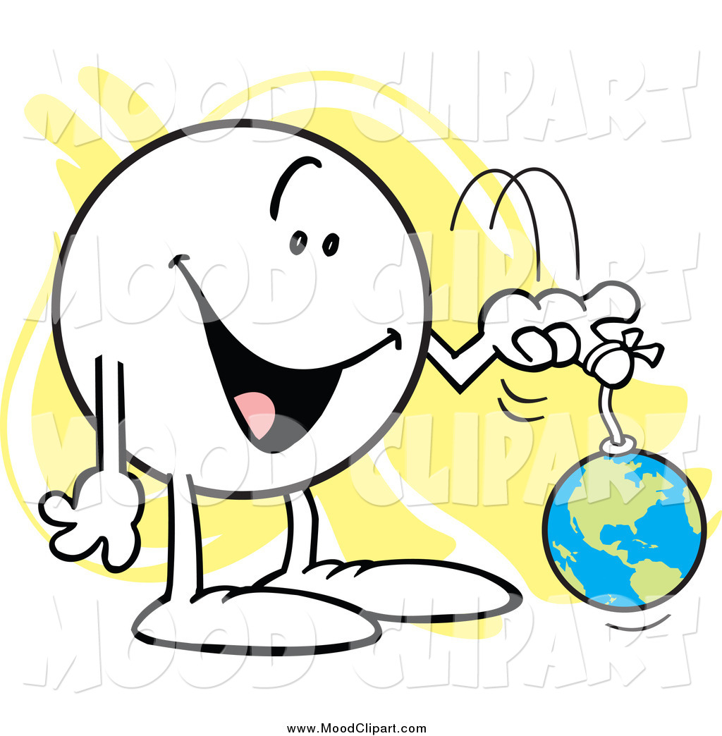 Mood Clip Art Of A Moodie Character Playing With The World On A String